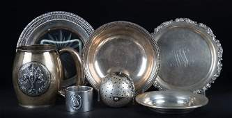 American  Continental silver table articles