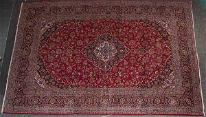 Persian Keshan carpet approx 101 x 1211