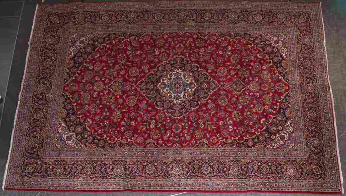 Persian Keshan carpet, approx. 10.1 x 12.11