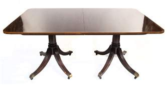 Baker mahogany dining table