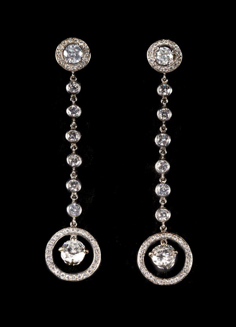 A Pair of Important Diamond Drop Earrings