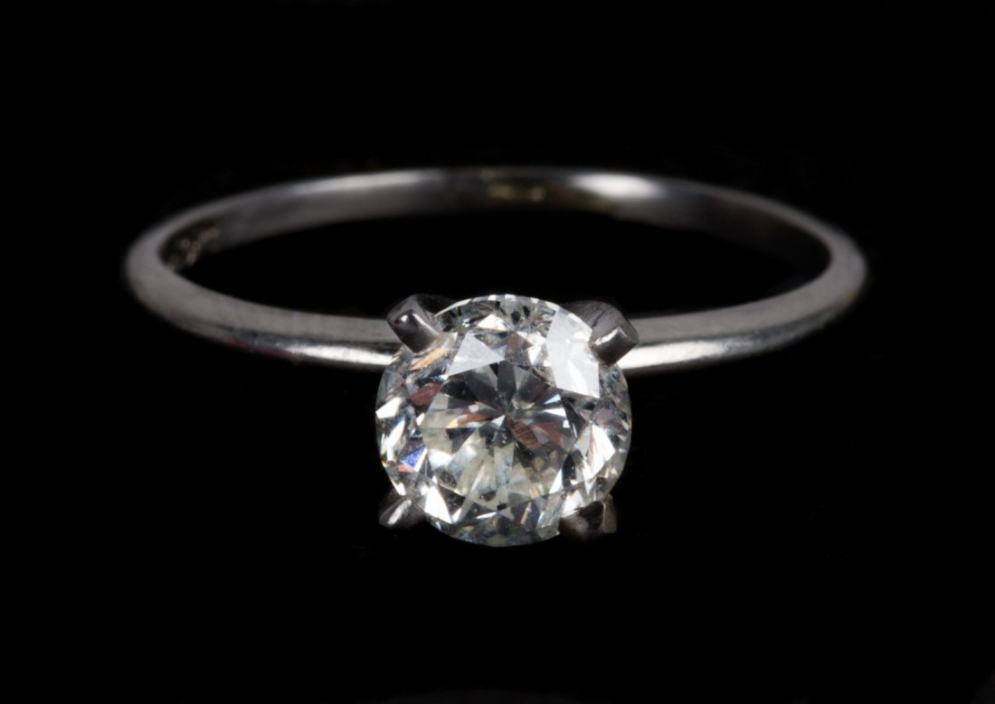A Diamond Solitaire Engagement Ring