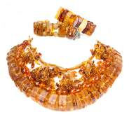 A Selection of Amber Jewelry