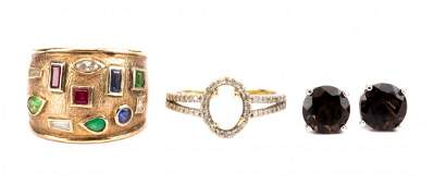 A Collection of Gemstone Jewelry