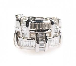 A Charles Krypell Diamond and Platinum Ring