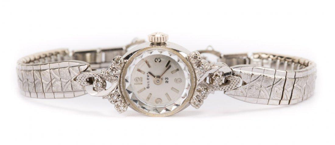 A Lady's Diamond Bulova Cocktail Watch