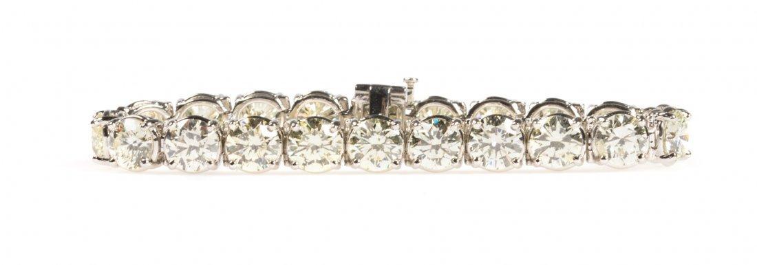 An Important Diamond Straight Line Bracelet