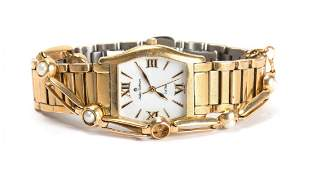 A Gold Pearl Bracelet and Watch
