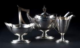 Gorham Plymouth sterling silver 3piece tea set