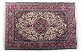 Fine Persian Ispahan rug approx 53 x 8