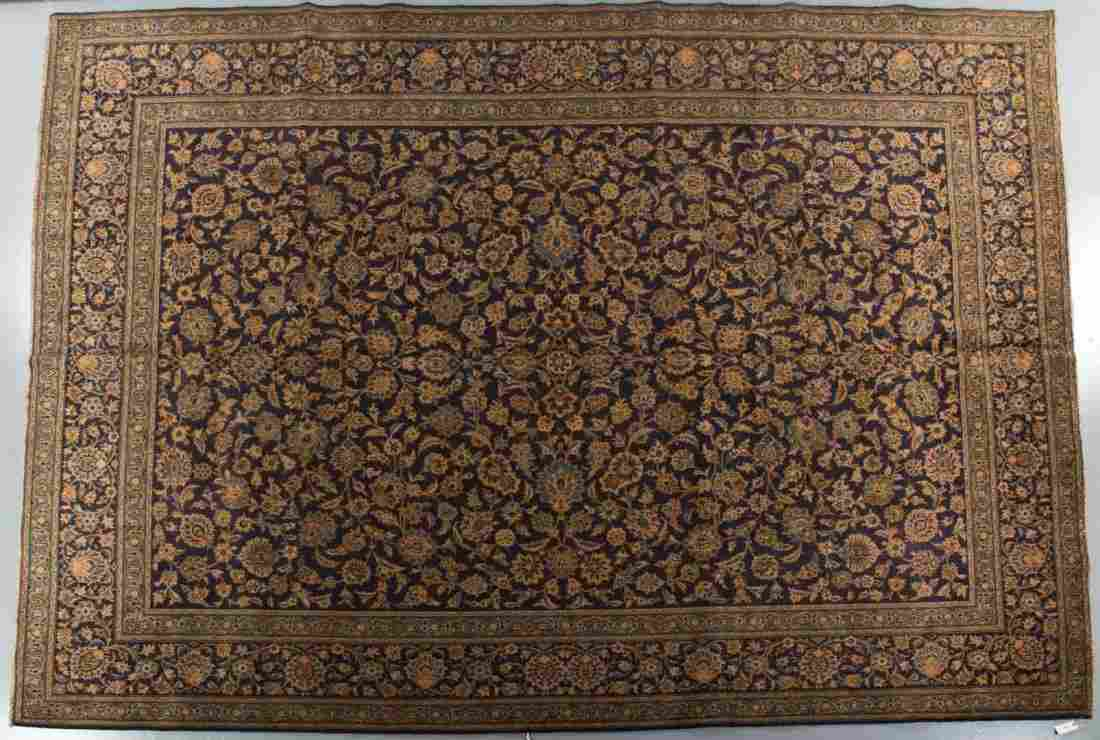Persian Keshan carpet, approx. 10 x 13.8
