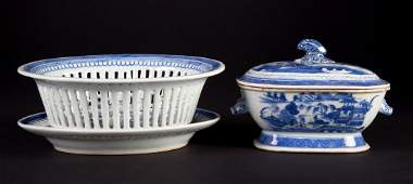 Two Chinese Export Canton porcelain articles