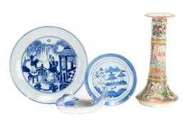 Four Chinese Export porcelain articles
