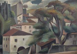 Andre Lhote. Le Village, oil on canvas