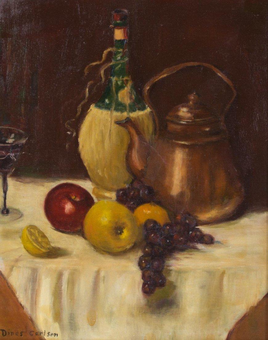 Dines Carlsen. Still Life, oil on artist board
