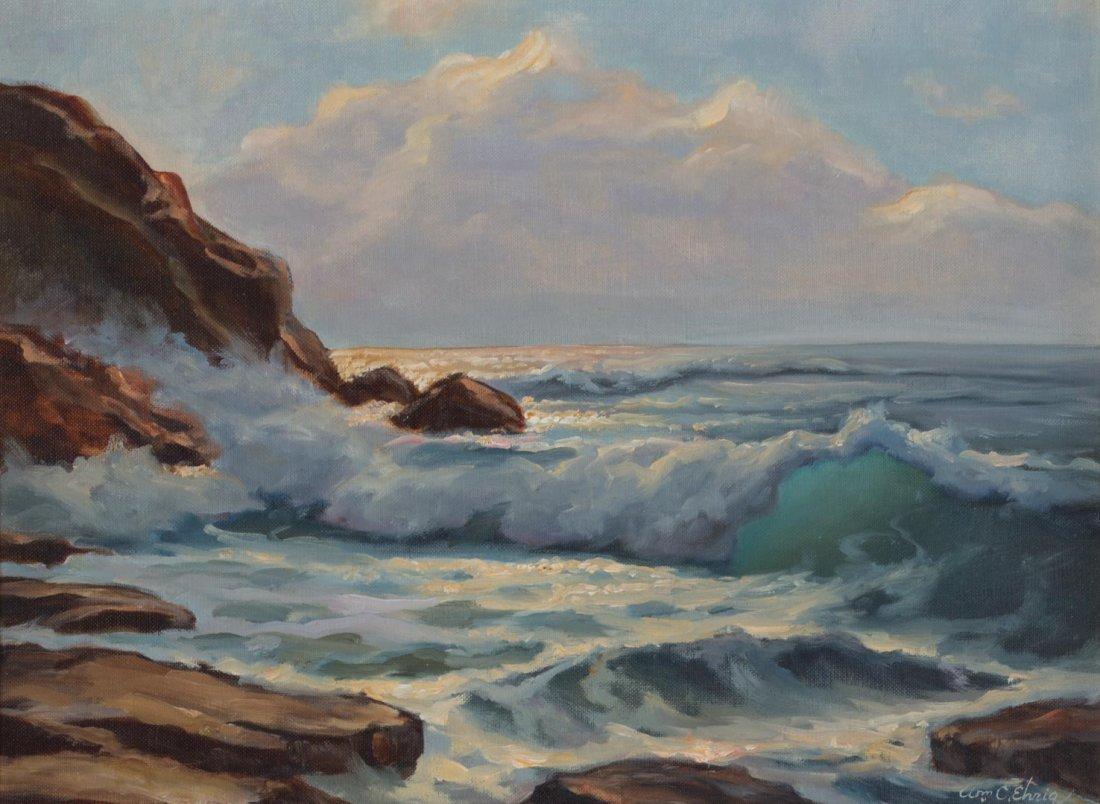 """William Ehrig. """"Morning Light,"""" oil/artist board"""