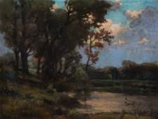 """Artist Unknown, e. 20th c. """"Landscape,"""" oil"""