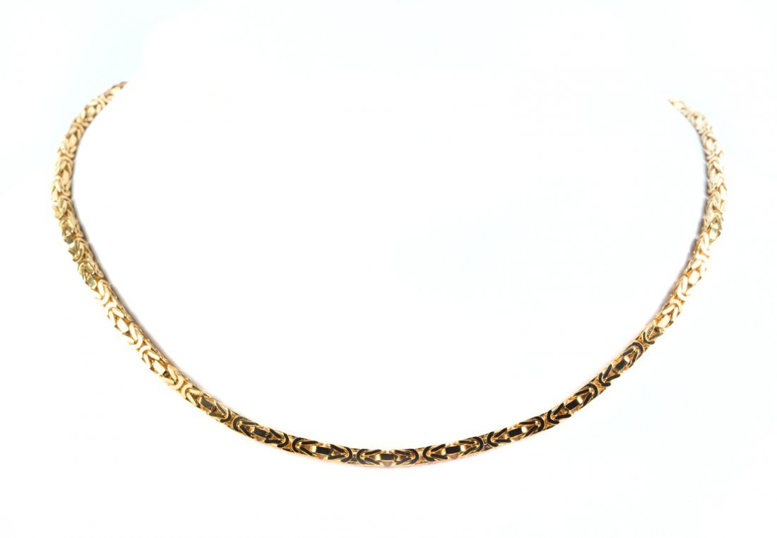 A Solid Gold Byzantine Necklace