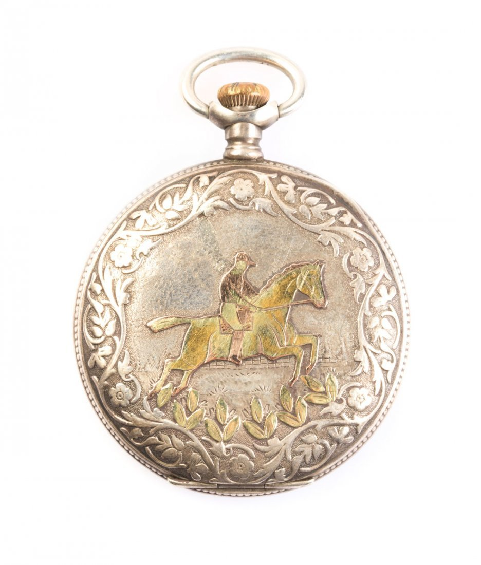 A Sterling Silver Waltham Hunter Pocket Watch