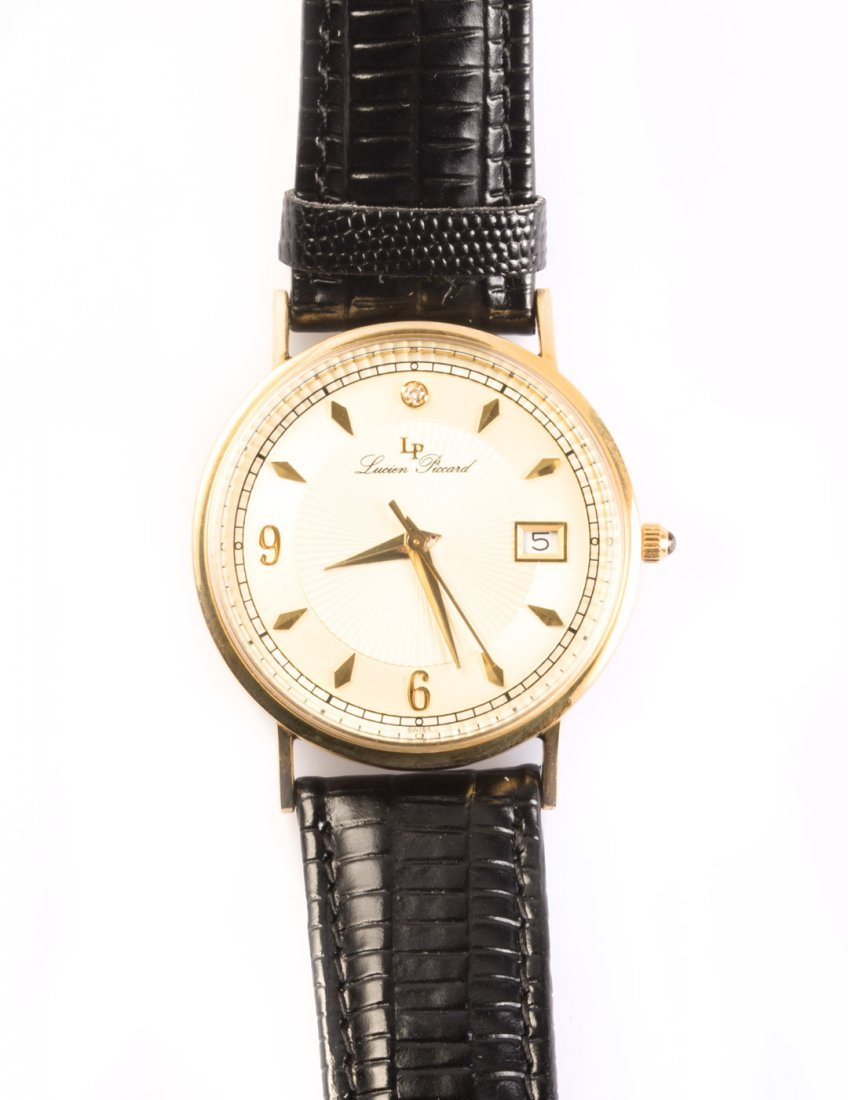 A Gold Lucien Piccard Watch