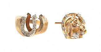 Gents Equestrian Inspired Gold Jewelry