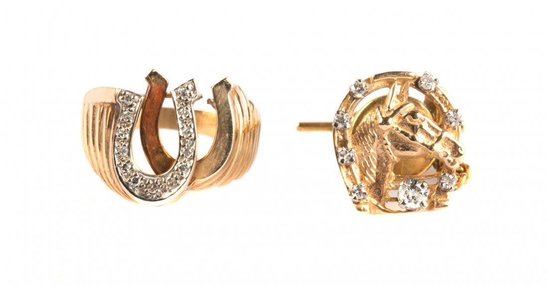 Gent's Equestrian Inspired Gold Jewelry
