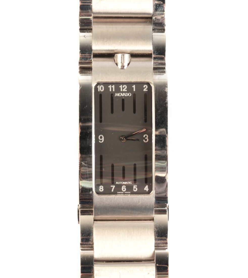 A Stainless Steel Movado Automatic Watch