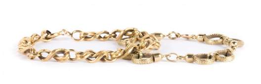A Pair of Lady's Gold Link Bracelets