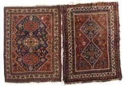 Two antique Persian Shiraz rugs