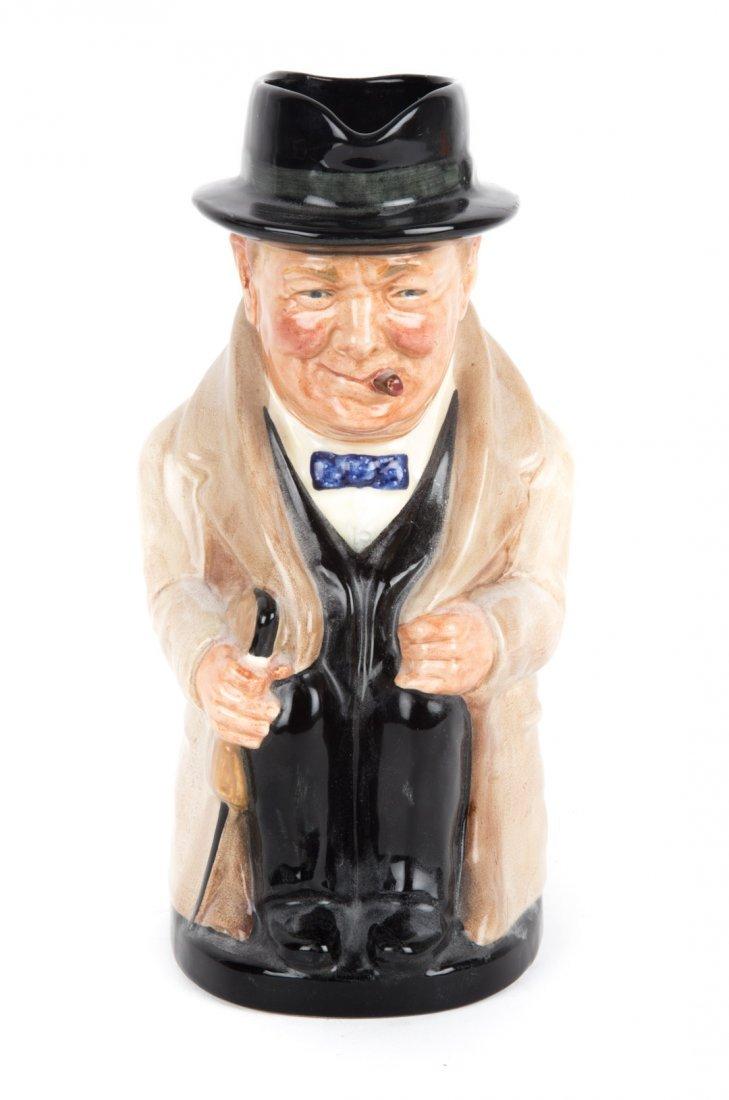 Royal Doulton china Winston Churchill toby jug