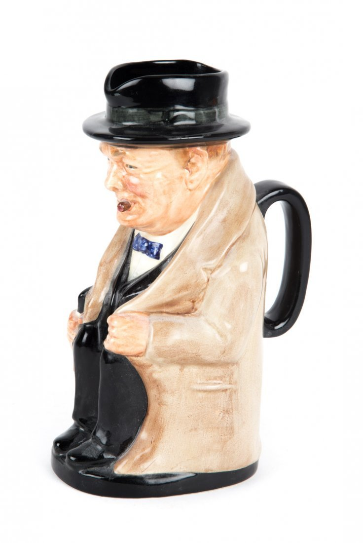 Royal Doulton china Winston Churchill toby jug - 2