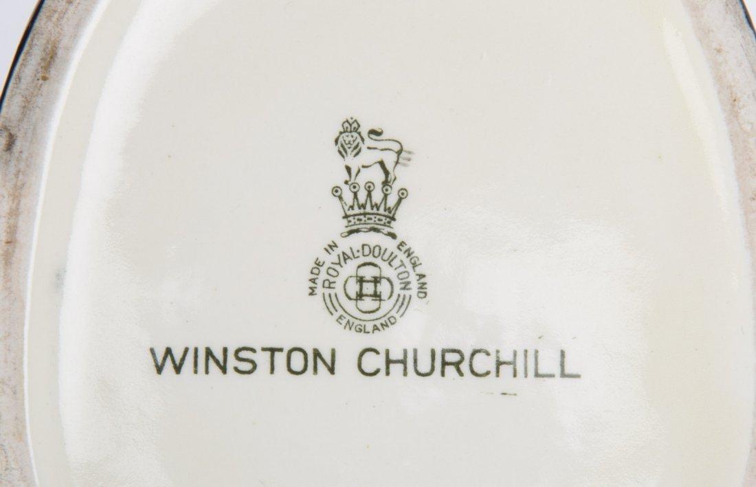 Royal Doulton china Winston Churchill toby jug - 4