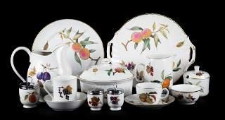 Royal Worcester porcelain partial dinner service