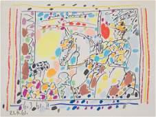 """Pablo Picasso. """"Le Picador II"""", lithograph"""