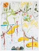 """Salvador Dali. """"Biological Garden"""", lithograph"""