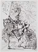 """Salvador Dali. """"El Cid"""", etching"""