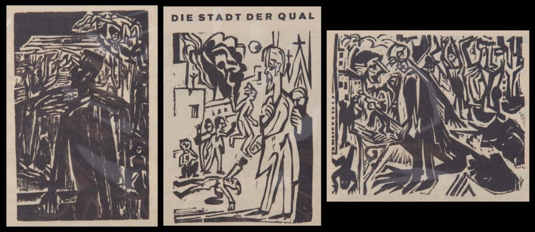 Ernest Kirchner. Three woodcuts