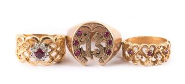 A Trio of Ladys Rings