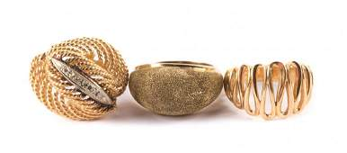 A Trio of Ladys Gold Rings