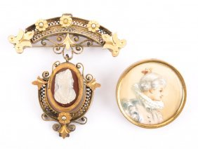 A Pair Of Victorian Brooches