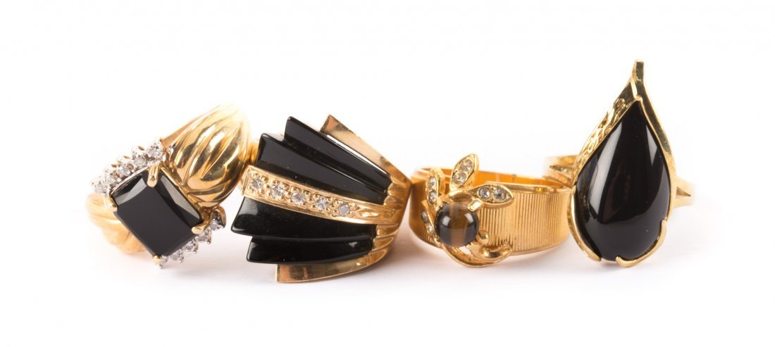 Four Assorted Contemporary Lady's Rings