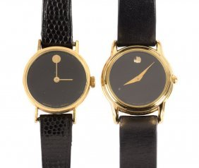 A Pair Of Lady's Movado Watches