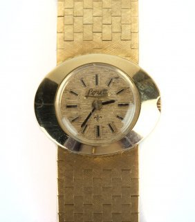 A Lady's 18k Gold Lorett Wrist Watch