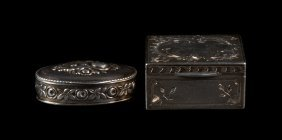 Two Continental Silver Pill Boxes