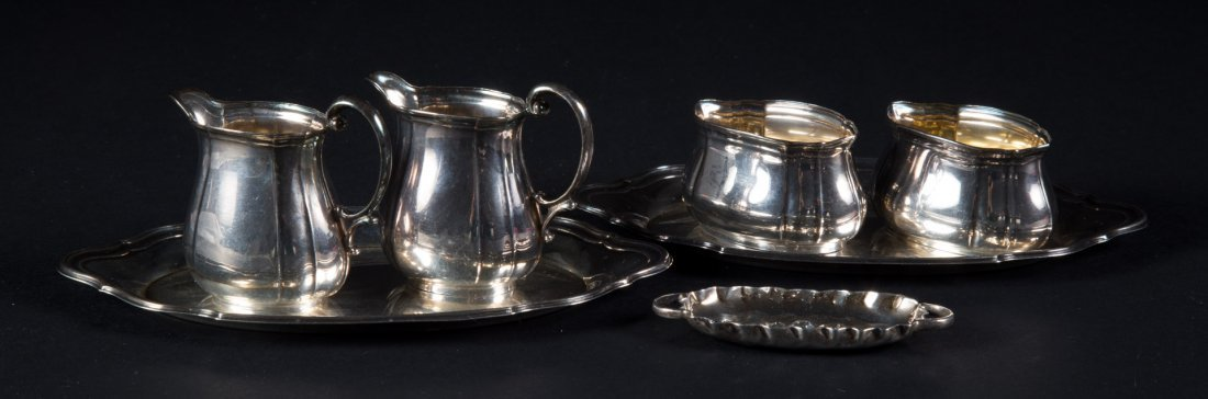 Continental silver miniature and doll items