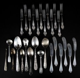 Assorted English & American Sterling Flatware