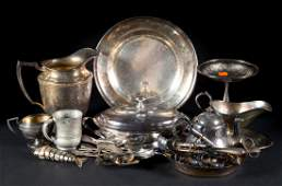 Assorted Christofle and other platedware