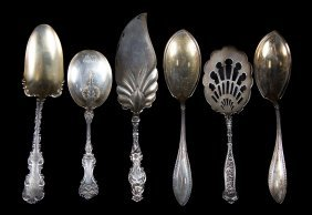 Whiting Sterling Large Flatware Pieces C1874-1902