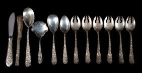 12 Kirk And Stieff Sterling Flatware Pieces