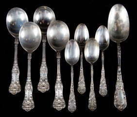 Group Of Dominick & Haff Sterling Silver Spoons